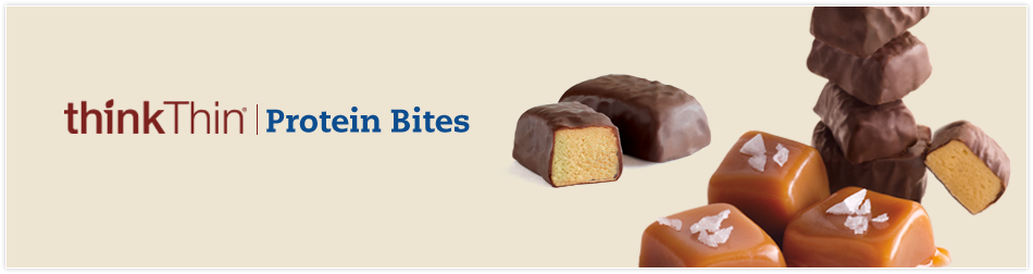 Snack smart and feel great with scrumptiously bite-sized and shareable thinkThin® Protein Bites. These unwrapped bite-sized versions of your favorite thinkThin® bars are perfect to eat at home, at work and on the go, anytime, anywhere you need an energy boosting snack or to satisfy a sweet craving.