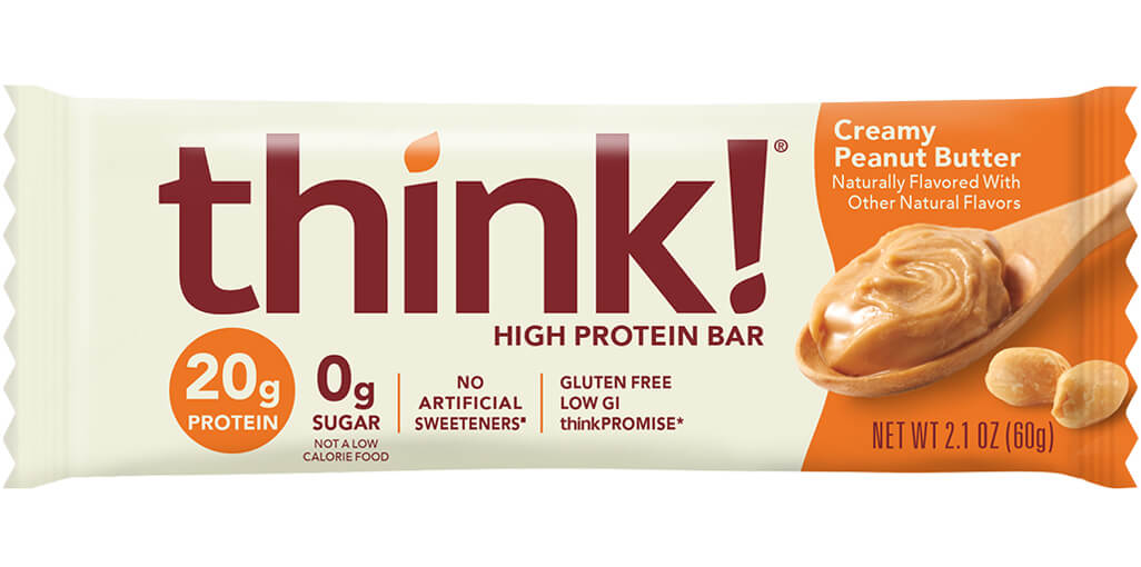 think! High Protein Bar, Creamy Peanut Butter packaging