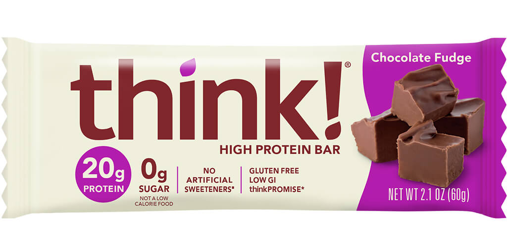 think! High Protein Bar, Chocolate Fudge packaging
