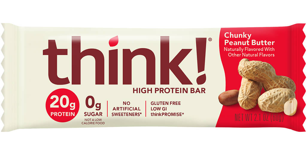 think! High Protein Bar, Chunky Peanut Butter packaging