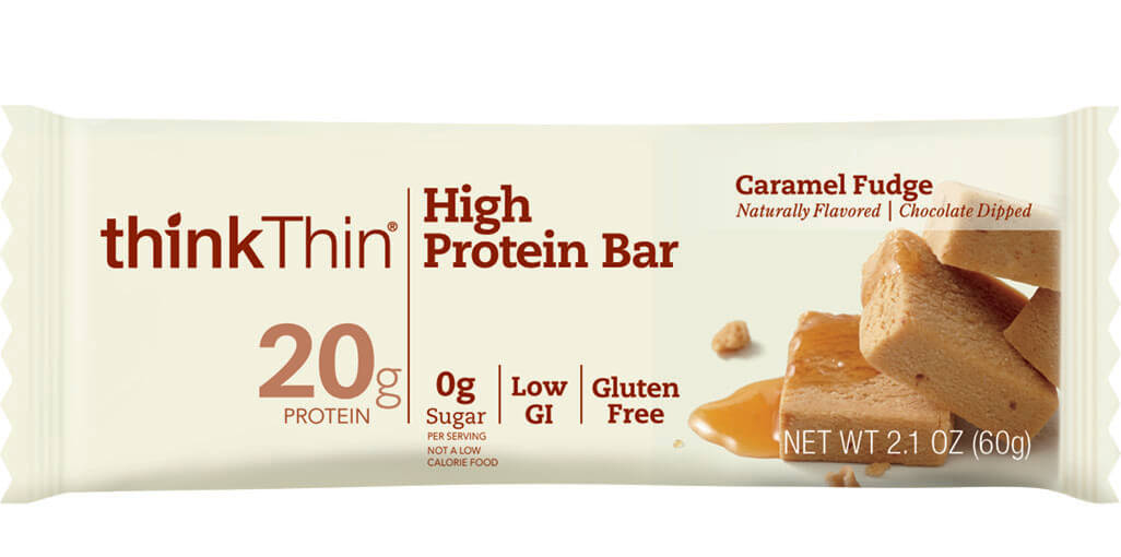 Image of think! High Protein Bar, Caramel Fudge packaging