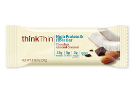 Image of Chocolate Almond Coconut High Protein & Fiber Bar packaging