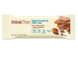 Milk Chocolate Toffee Almond High Protein & Fiber Bar