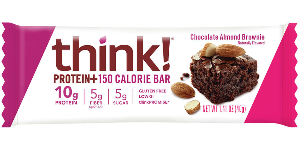 Image of think! Protein+ 150 Calorie Bar, Chocolate Almond Brownie packaging