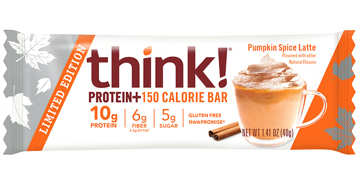 think! Protein+ 150 Calorie Bar, Pumpkin Spice Latte (Limited Edition) packaging