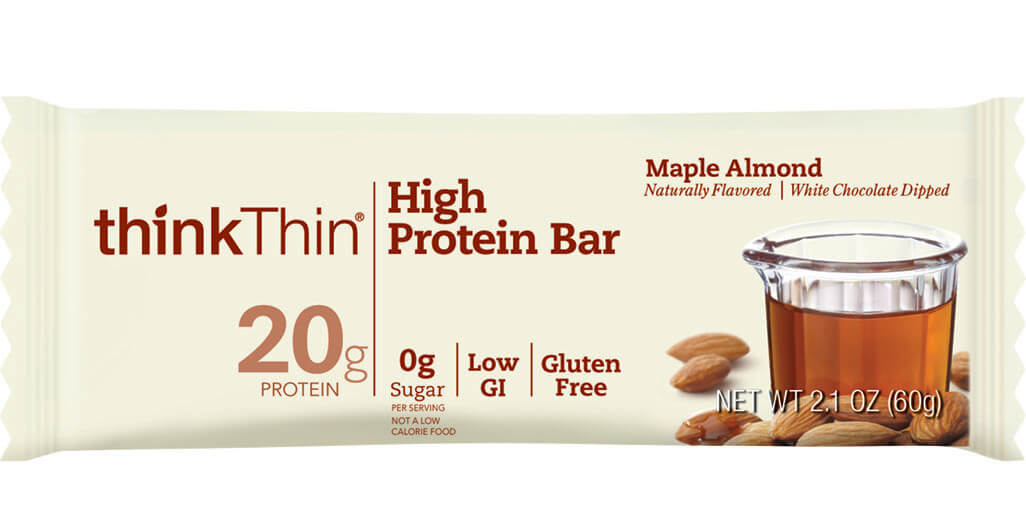 think! High Protein Bar, Maple Almond packaging