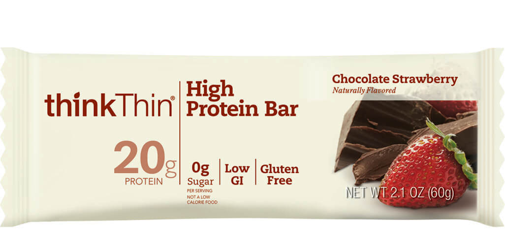 think! High Protein Bar, Chocolate Strawberry packaging