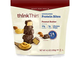 think! Protein & Fiber Oatmeal, Peanut Butter packaging