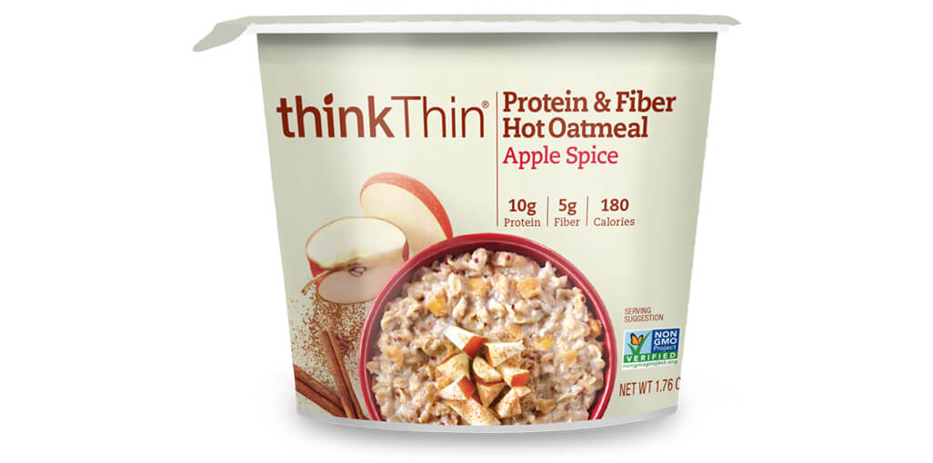 think! Protein & Fiber Oatmeal, Apple Spice (Bowl) image