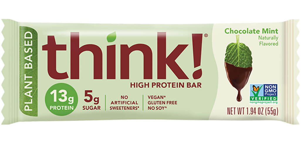 think! High Protein Bars, Chocolate Mint (V) packaging