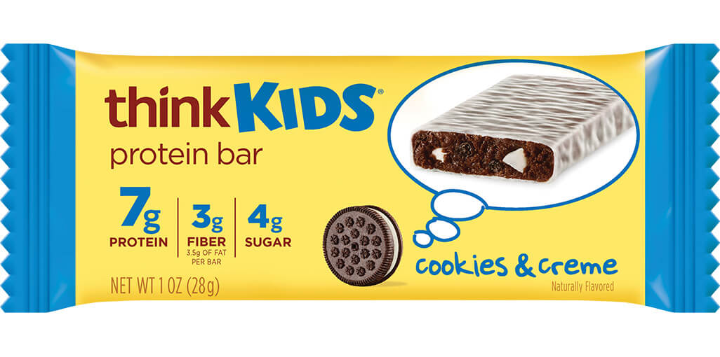 think! thinkKIDS Protein Bars, Cookies & Crème image