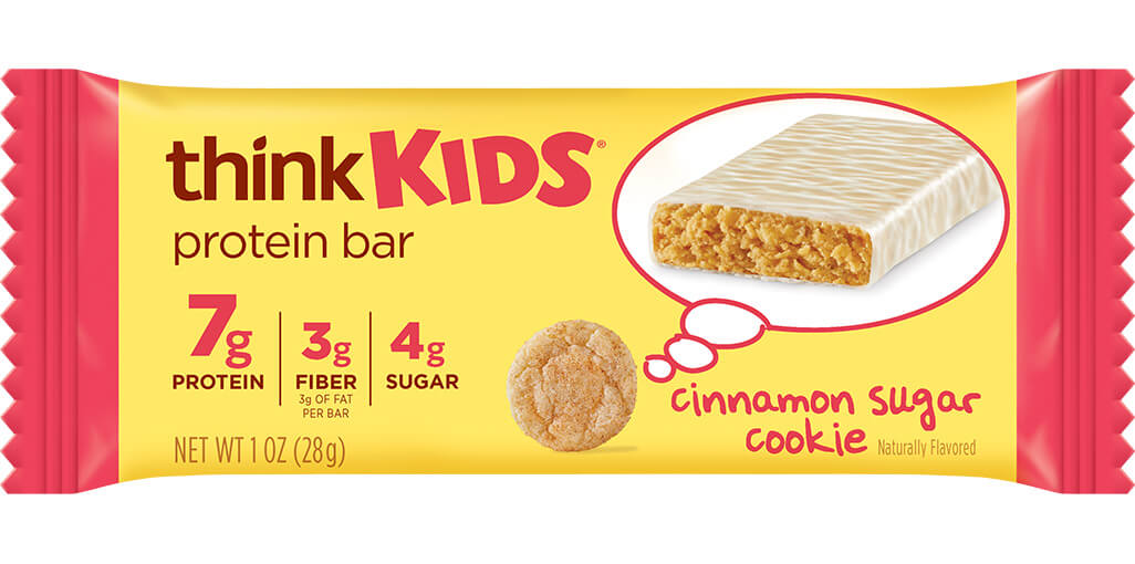 think! thinkKIDS Protein Bars, Cinnamon Sugar Cookie image
