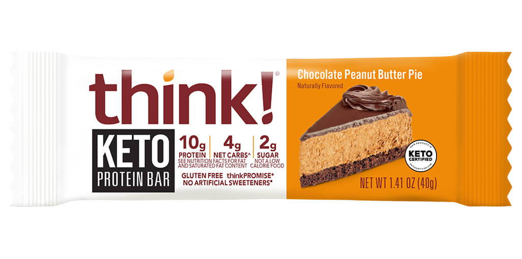 think! Keto Protein Bars, Chocolate Peanut Butter Pie image