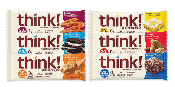 think! High Protein Bars Variety Pack packaging