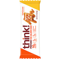 think! Protein+ 150 Calorie Bar, Salted Caramel package