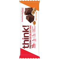 think! Protein+ 150 Calorie Bar, Chunky Chocolate Peanut package