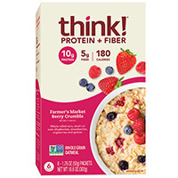 think! Protein & Fiber Oatmeal, Farmer's Market Berry Crumble (Box) package
