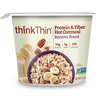 think! Protein & Fiber Oatmeal, Banana Bread (Bowl) package