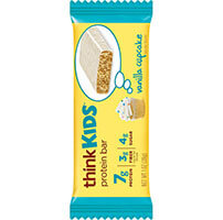think! thinkKIDS Protein Bars, Vanilla Cupcake package