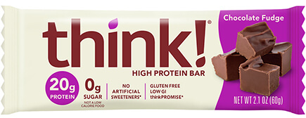 think! High Protein Bar, Chocolate Fudge - click for more information or to buy now