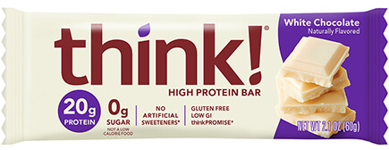 think! High Protein Bar, White Chocolate Flavor - click for more information or to buy now