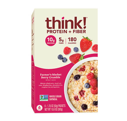 think! Protein + Fiber Oatmeal, Farmer's Market Berry Crumble (Box) - click for more information or to buy now
