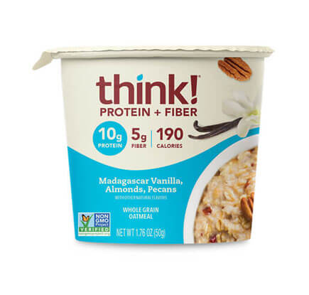 think! Protein + Fiber Oatmeal, Madagascar Vanilla, Almonds, Pecans (Bowl) - click for more information or to buy now