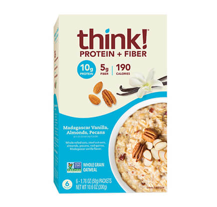 think! Protein + Fiber Oatmeal, Madagascar Vanilla, Almonds, Pecans (Box) - click for more information or to buy now