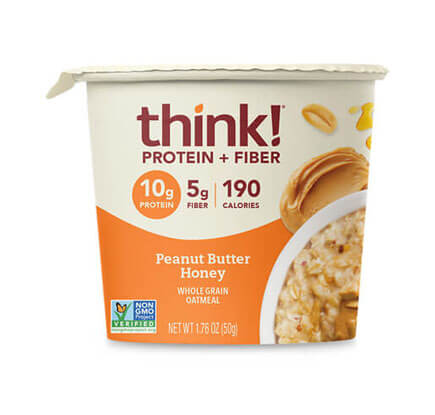 think! Protein + Fiber Oatmeal, Peanut Butter Honey (Bowl) - click for more information or to buy now