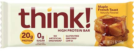 think! High Protein Bar, Maple French Toast - click for more information or to buy now