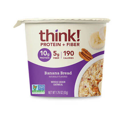 think! Protein + Fiber Oatmeal, Banana Bread (Bowl) - click for more information or to buy now