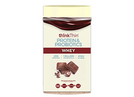 Protein & Probiotics Belgian Chocolate Whey-Based Protein Powder [tkp-713588.jpg] - Click for Details