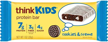 think! thinkKIDS Protein Bars, Cookies & Crème - click for more information or to buy now