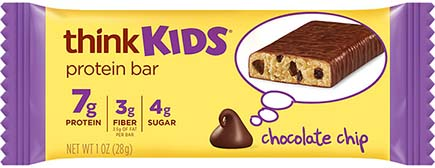 think! thinkKIDS Protein Bars, Chocolate Chip - click for more information or to buy now