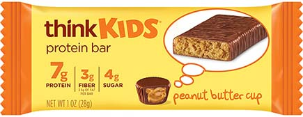 think! thinkKIDS Protein Bars, Peanut Butter Cup - click for more information or to buy now