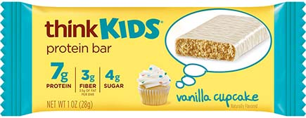think! thinkKIDS Protein Bars, Vanilla Cupcake - click for more information or to buy now