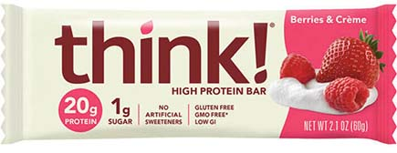 think! High Protein Bar, Berries & Crème - click for more information or to buy now