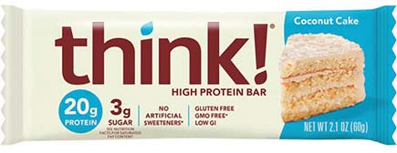 think! High Protein Bar, Coconut Cake - click for more information or to buy now