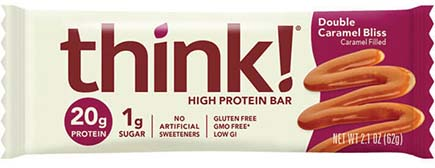 think! High Protein Bar, Double Caramel Bliss - click for more information or to buy now