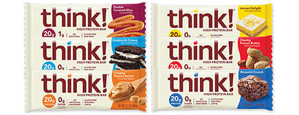 think! High Protein Bars Variety Pack - click for more information or to buy now