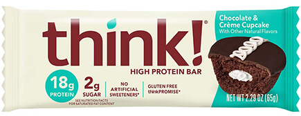 think! High Protein Bar, Chocolate & Crème Cupcake - click for more information or to buy now