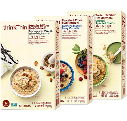 Protein & Fiber Hot Oatmeal Variety 12-Pack (Box) [tkp-vpobox.jpg] - Click for Details