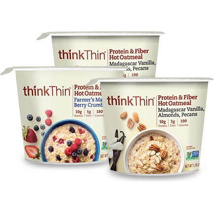 Protein & Fiber Hot Oatmeal Cup Variety 12-Pack [tkp-vpobwl.jpg] - Click for Details